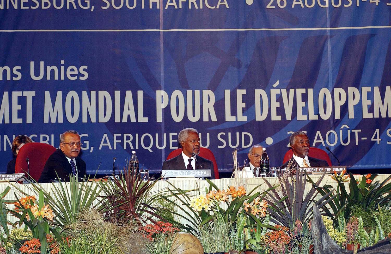 2002 <br>Sommet mondial sur le développement durable de Johannesburg