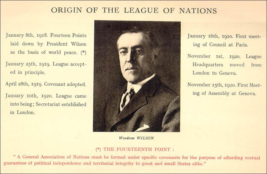 1919 <br>Société Des Nations (SDN)