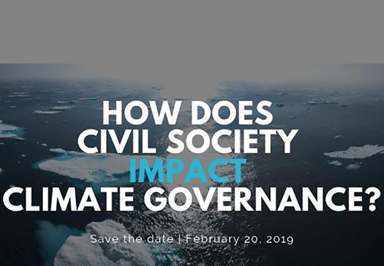 How does civil society impact climate governance?