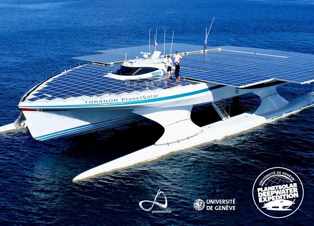 2013 <br>Lancement de l'expédition scientifique PlanetSolar Deepwater