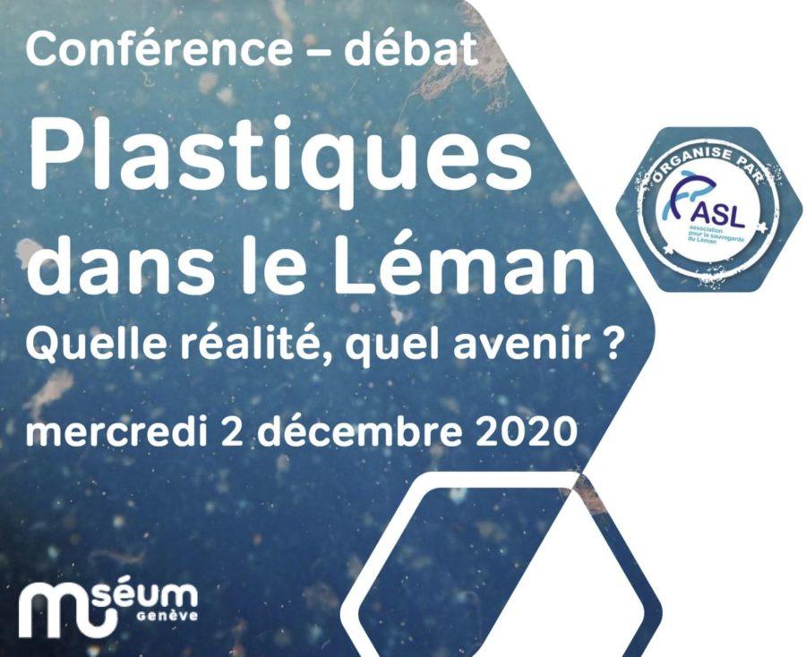 """Conférence – débat : """"Plastiques dans le Léman, quelle réalité, quel avenir ?"""""""